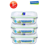Glasslock 14-Oz Rectangular Food Storage Containers, 6-Pcs Set