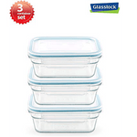 Glasslock 1.6-Cup Rectangular Food Storage Container 6-Pcs Set