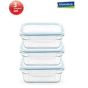 Glasslock 0.6-Cup Rectangular Food Storage Containers 6-Pcs Set - EverydaySpecial