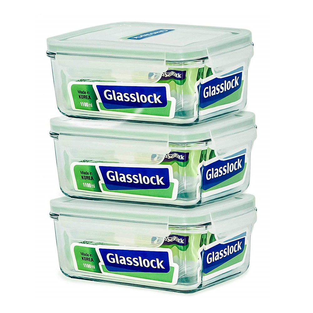 Glasslock 37-Oz Food Storage Containers, 6-Pcs Set