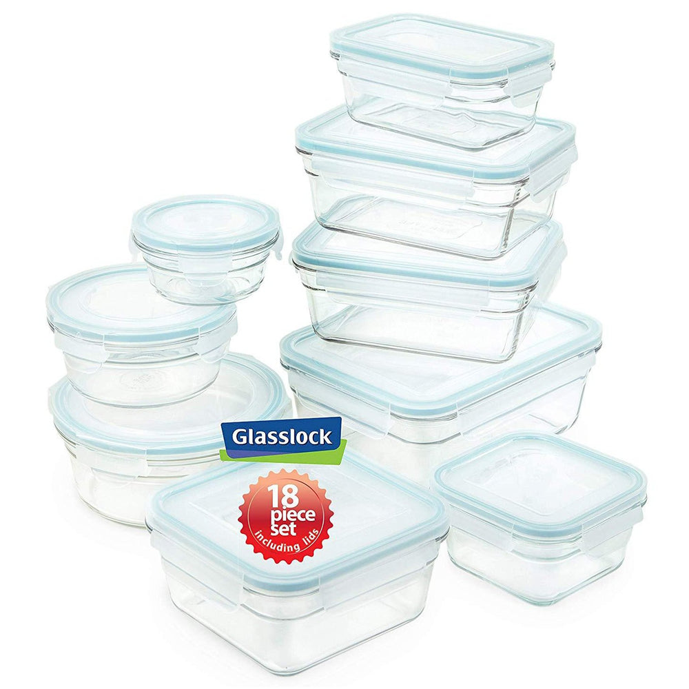 Glasslock  Assorted Food Storage Containers 18-Pcs Set