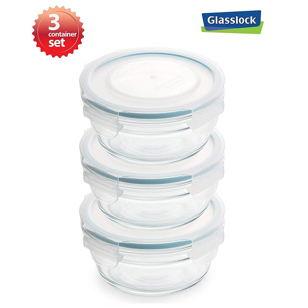 Glasslock 0.73-Cup Round Food Storage Containers 6-Pcs Set