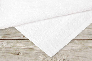 Super Absorbent & Soft Spa White HAND Towel with Dobby Border 16 x 27 inch (12-Pcs) - EverydaySpecial