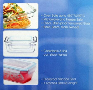 Glasslock Assorted Food Storage Containers, 18-Pcs Set - EverydaySpecial