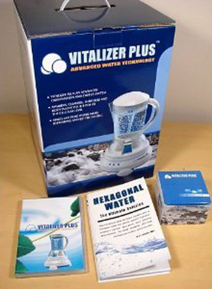 [Vitalizer Plus] Hexagonal Oxygen Water Maker With 2 Mineral Cubes-Alkaline Ionizer - EverydaySpecial