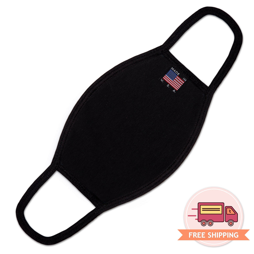 Reusable Cotton Mask with built in Pocket Filter for Extra Protection (Black) - EverydaySpecial