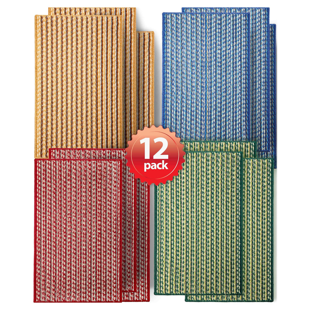 Charming Mat Multi Color Stripe Assorted 12-Pack