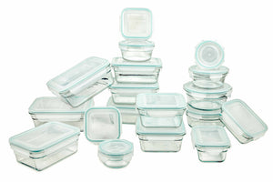 Glasslock NEW Snaplock Lid Tempered Storage Containers, 36-Pcs Set - EverydaySpecial
