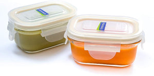 Glasslock Yum Yum Baby Food Containers, 6-Pcs Set – Rectangular 5.07 oz - EverydaySpecial