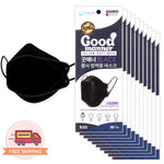 [Adult] Good Manner Korean Premium KF94 Black Mask 4 Layer 100 pcs
