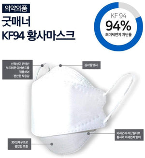 [Adult] Good Manner Korean Premium KF94 Black Mask 4 Layer 10 pcs - EverydaySpecial