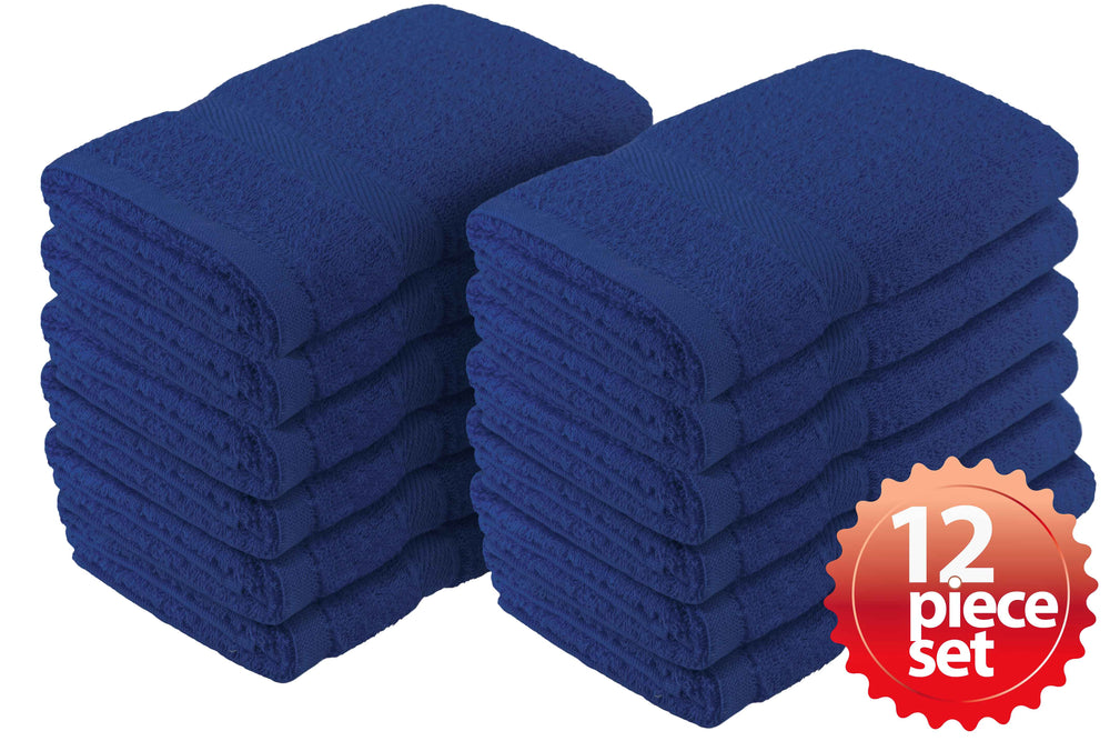 "Fast Drying Absorbent 100% Cotton Hand Towel 12-Pcs Set, 16""x 27"" - EverydaySpecial"