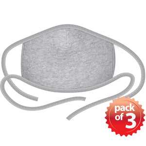 2-Layer Reusable 3D Cotton Face Mask with Filter Pocket (Heather Grey) - EverydaySpecial