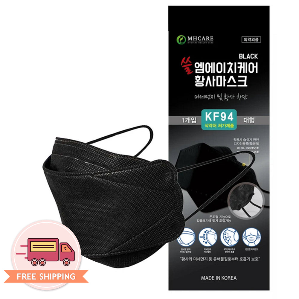 MH Care Disposable 4 Layer Filter KF94 Black Mask