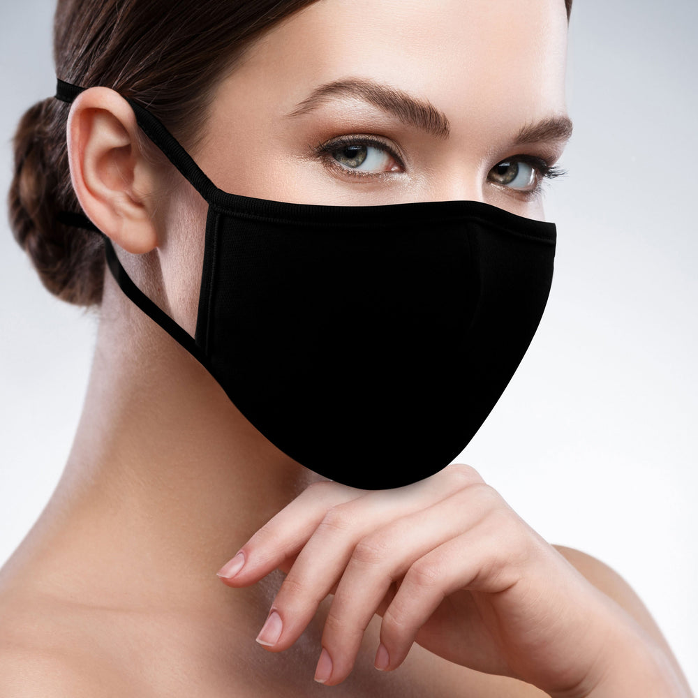 2-Layer Reusable 3D Cotton Face Mask with Filter Pocket (Black) - EverydaySpecial