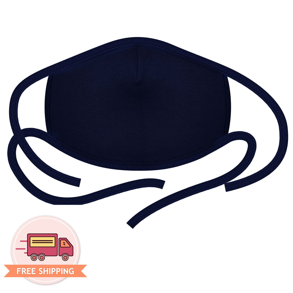 3PCS 2-Layer Reusable 3D Cotton Face Mask with Filter Pocket (Navy)