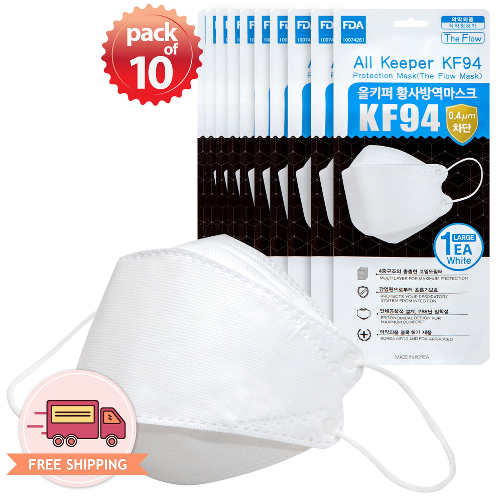 All Keeper KF94 94% Filtration 4 Multi Layer Mask (White)
