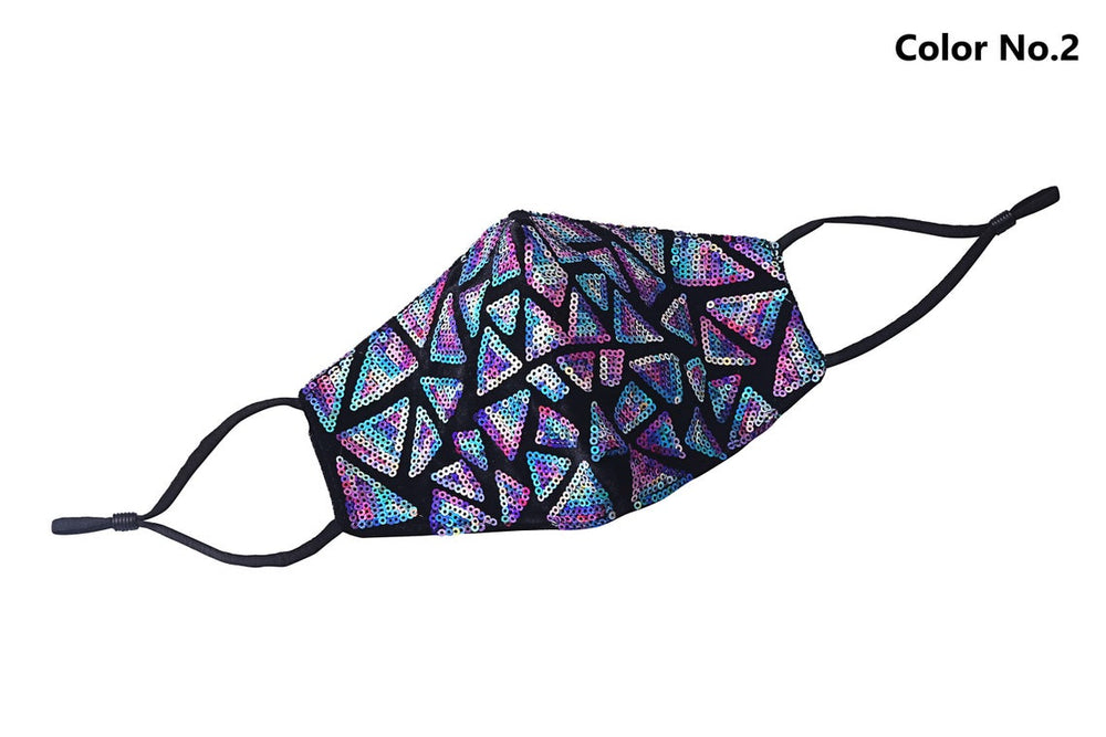 Reusable Colorful Sequin Light Fashion 3D Face Mask 3 pcs - everydayspecial.com