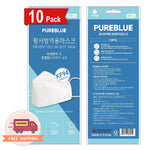 Pure Blue KF94 4-Layer Protection from Fine Dust  White Mask 10 pcs