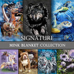 "Signature Collection Mink Plush Blanket  for Animal Lovers, 79""x95""(QUEEN)"