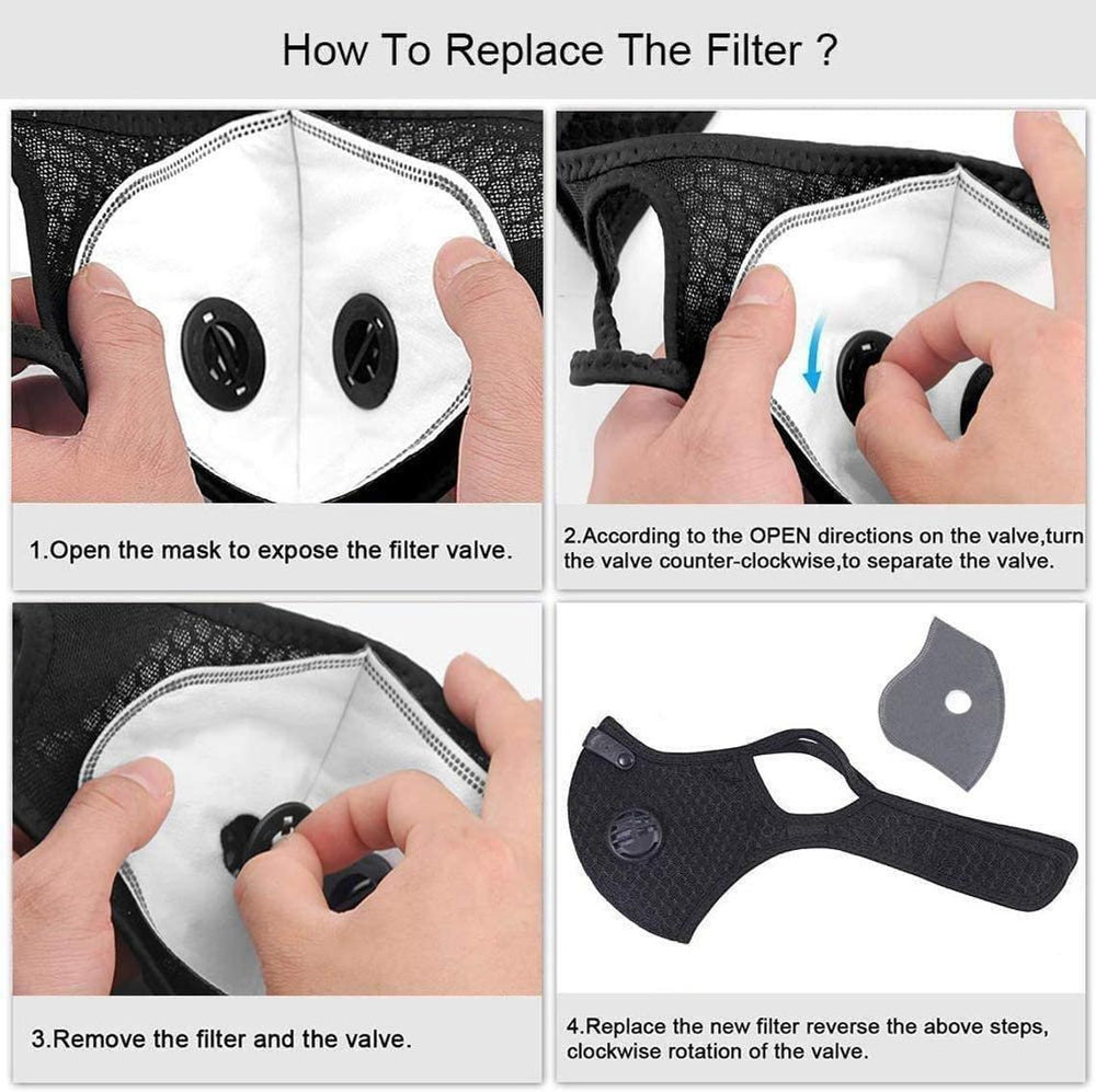 Replaceable Carbon Filter 5 Layer for Adult Sports Face Mask - everydayspecial.com