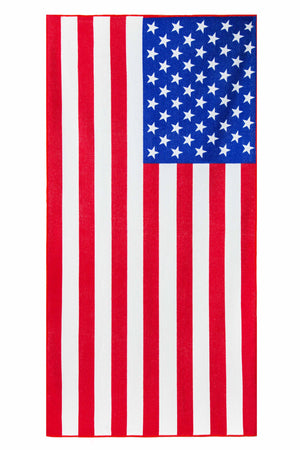 "Load image into Gallery viewer, Microfiber Beach Towel | American Flag Print, 28""x 55"" - EverydaySpecial"