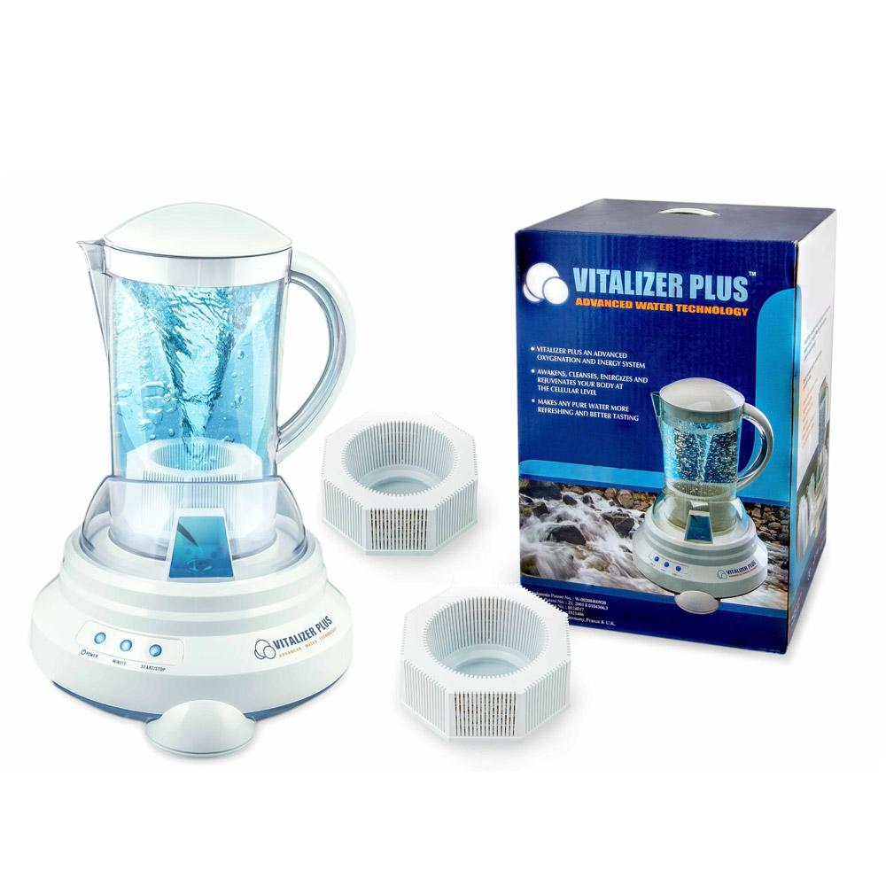 [Vitalizer Plus] Hexagonal Oxygen Water Maker With 2 Mineral Cubes-Alkaline Ionizer