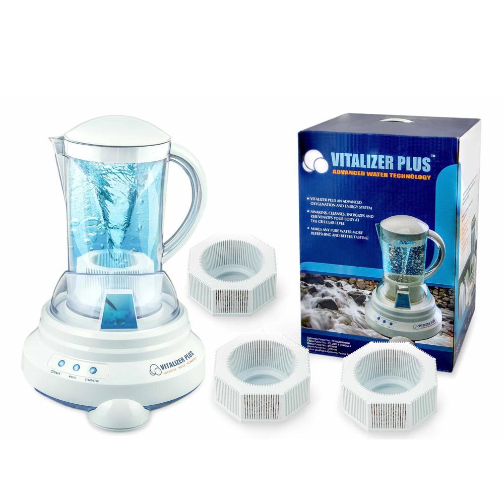 [Vitalizer Plus] Hexagonal Oxygen Water Maker With 3 Mineral Cubes-Alkaline Ionizer