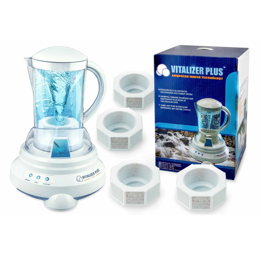 [Vitalizer Plus] Hexagonal Oxygen Water Maker With 4 Mineral Cubes-Alkaline Ionizer
