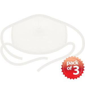 2-Layer Reusable 3D Cotton Face Mask with Filter Pocket (White) - EverydaySpecial