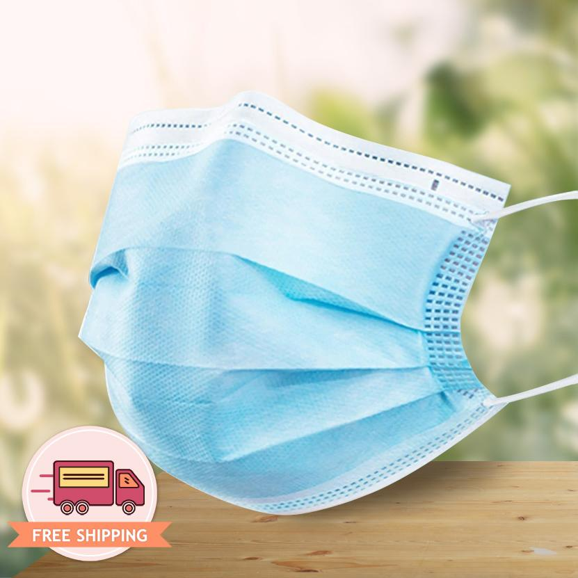 Disposable Protective 3-Ply Face Mask 50 pcs