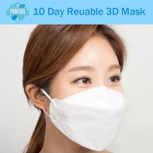 Puritas 3D Double 10-Day Reusable Face Mask - EverydaySpecial
