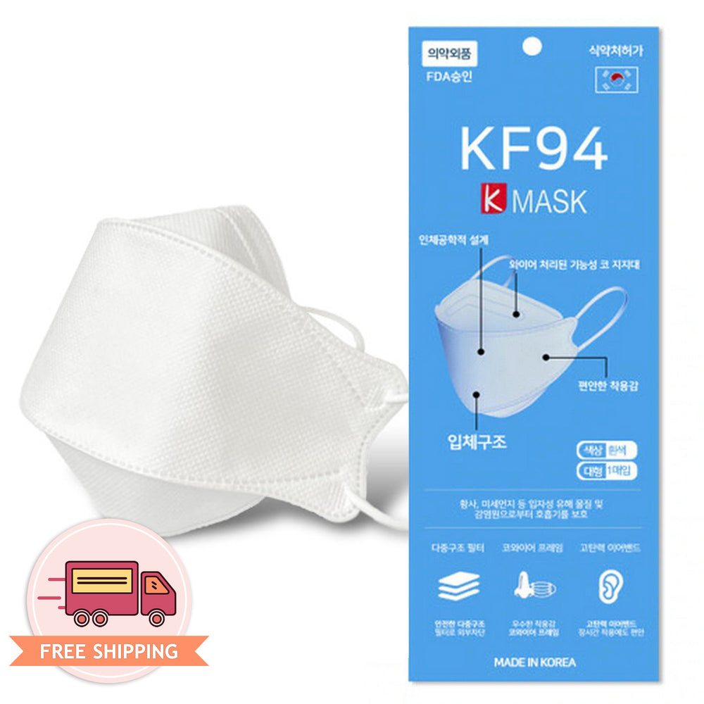 [Adult] Korean Premium KF94 White K Mask 4 Layer