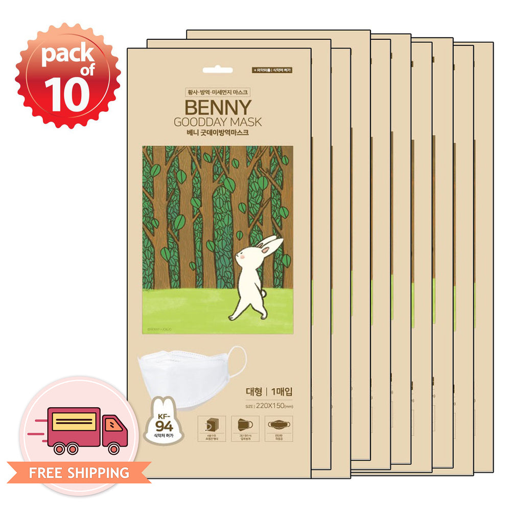 [Adult] Good Day Korean Premium KF94 White Mask Benny 10 pcs