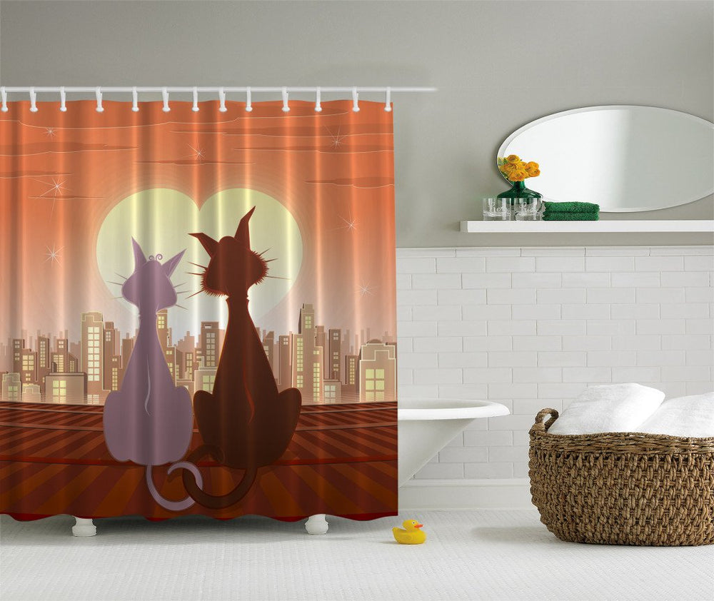 Designer's Collection Digital Graphic Print Shower Curtain Set - EverydaySpecial