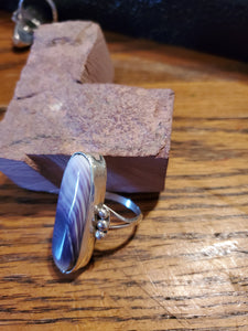 Wampum Sterling Silver Ring Size 8