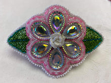 Load image into Gallery viewer, Beaded Flower Barrette