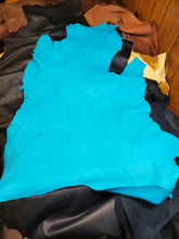 Load image into Gallery viewer, Turquoise Top Grain Deer Skin Leather Hides