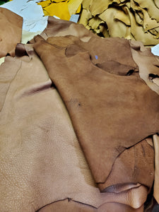 Chocolate Brown Top Grain Deerskin Craft Grade