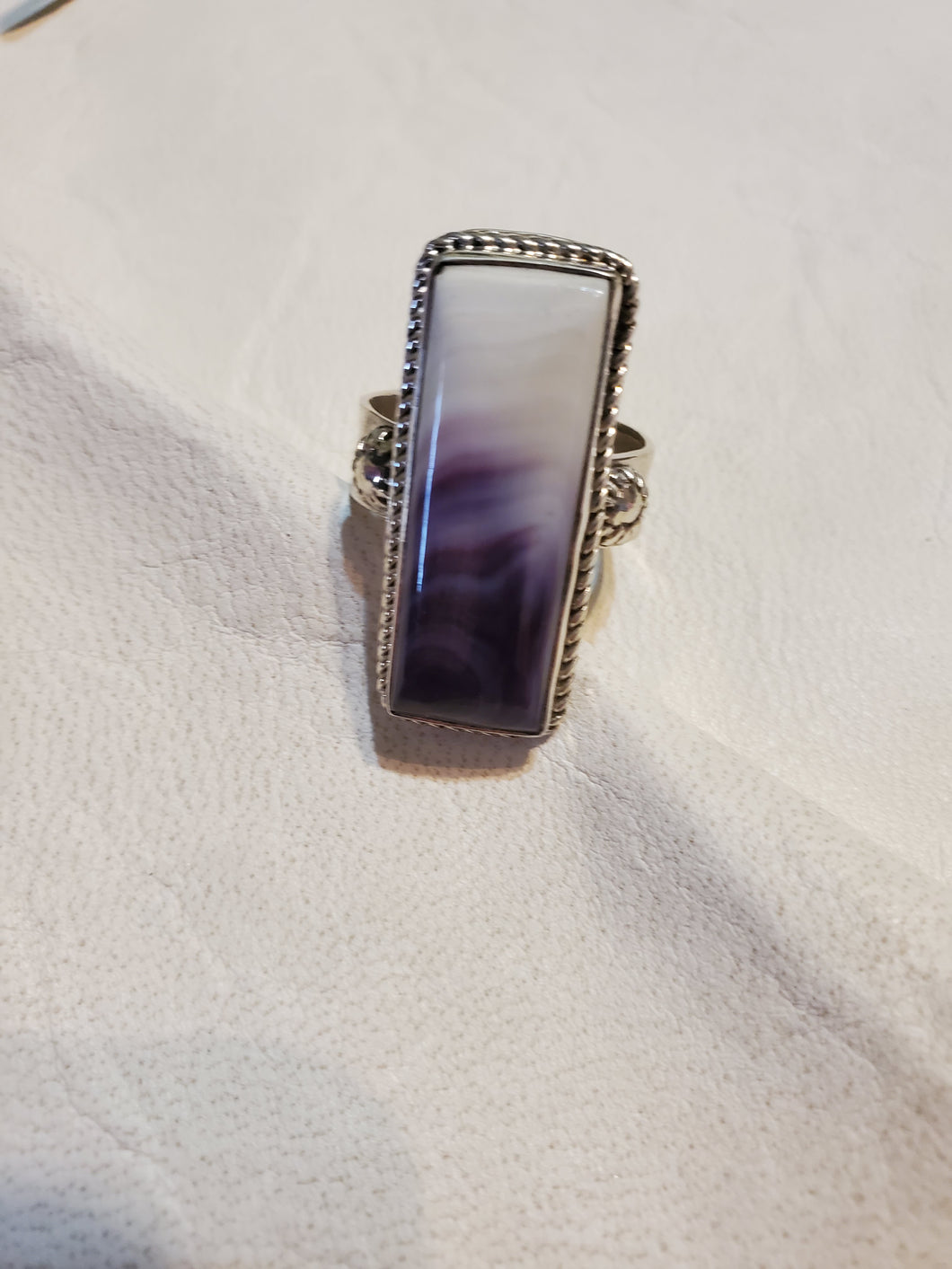 Sterling Silver Wampum Ring 7 1/2