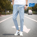 2020 Summer Men's Linen Trousers Hip Hop Jogging Ankle-Length Pants Solid color Breathable Fashion High quality Casual pants Men