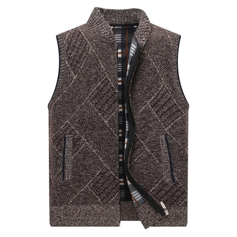 New Men's Sweater Vest Fashion Hip Hop Harajuku Sleeveless Sweaters Vest Men Casual Mandarin Collar Streetwear Sweater Vest Mens