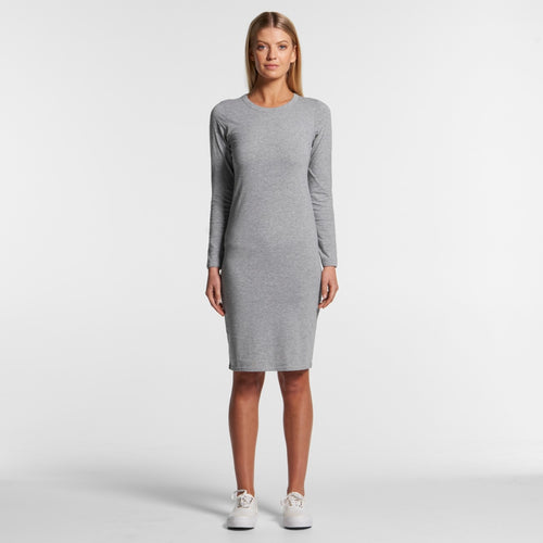 AS COLOUR MIKA L/SLEEVE ORGANIC DRESS