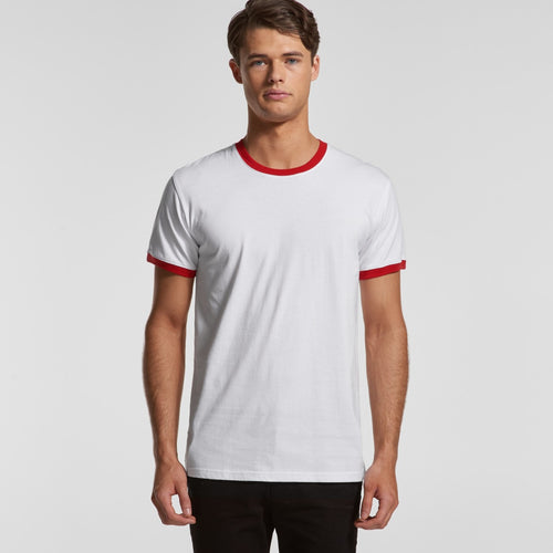 AS COLOUR MENS RINGER TEE