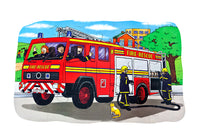 Shaped Floor Puzzle Fire Engine - JJ572