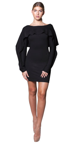 AVION Mini Dress -blk-