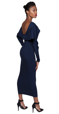 AVION Midi Dress -navy-
