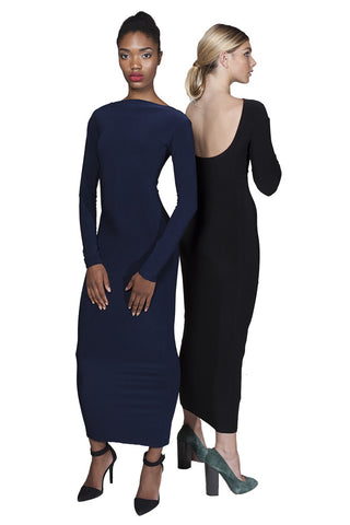MUNRO Midi Dress -reversible- navy/blk