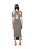 Raglan Cutout Dress -taupe-