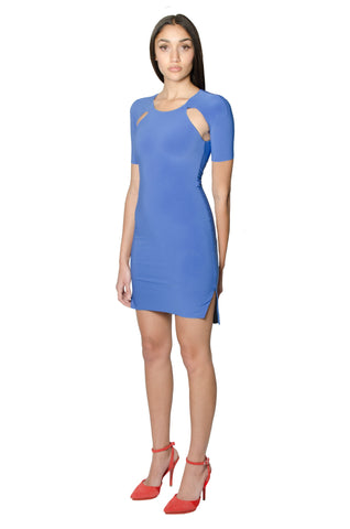 CERULEAN MINI RAGLAN DRESS